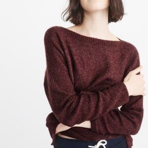 NEW! Abercrombie Boatneck Pocket Sweater